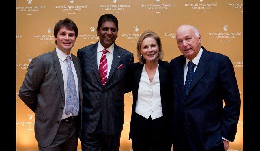 Arnaud Boetsch, Vijay Amritraj, Marthe Keller et Bertrand Gros
