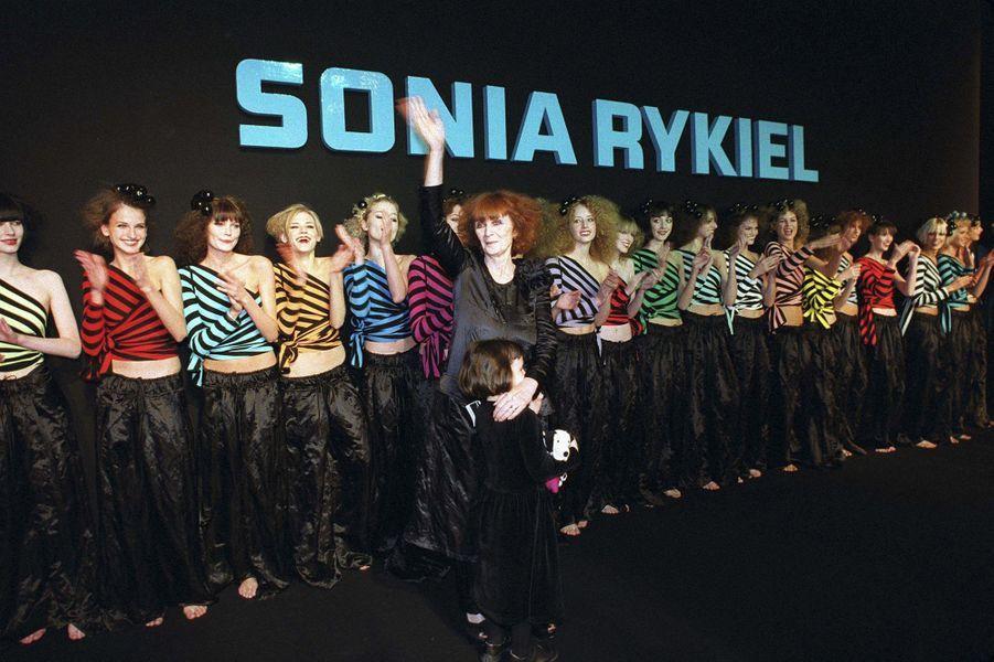 Le défilé Prêt-à-Porter de Sonia Rykiel, en octobre 2001.