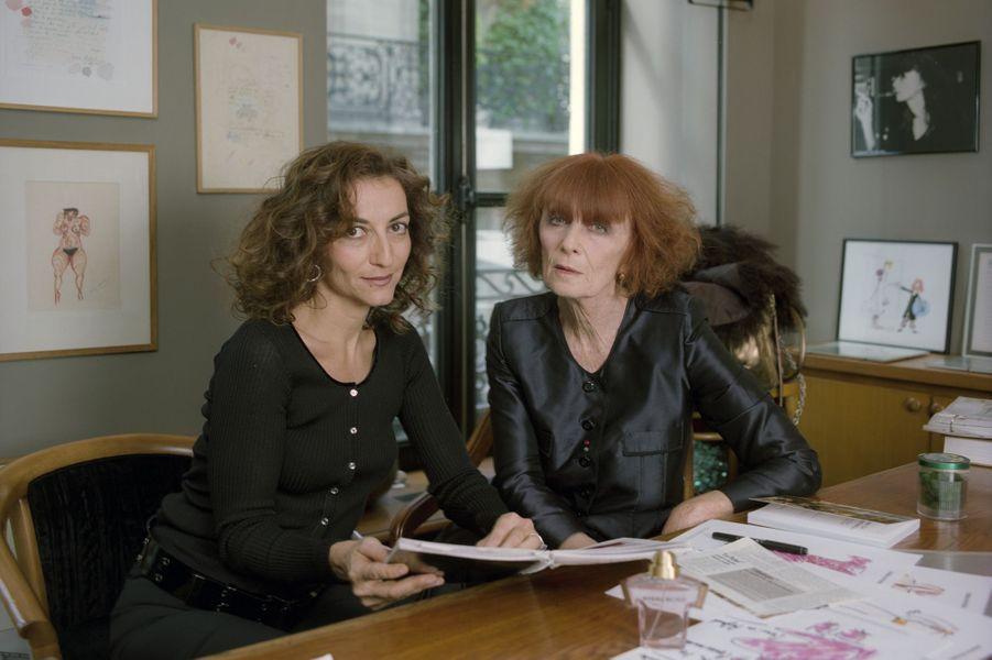 Sonia Rykiel et sa fille Nathalie, en septembre 2000.