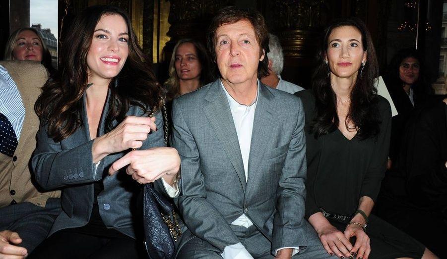 Liv Tyler, Paul McCartney et sa compagne Nancy Shevell.