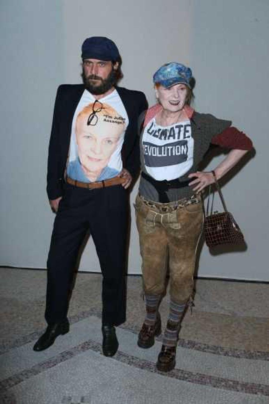 La créatrice Vivienne Westwood et son mari