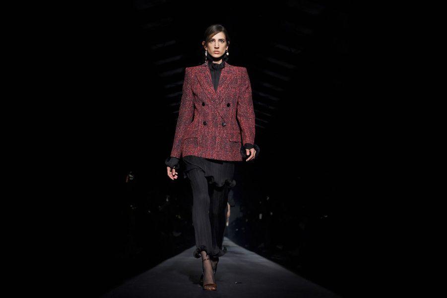 Clare Waight Keller a présenté le 3 marsla collection Givenchy automne-hiver 2019-2020.