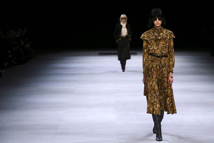 Hedi Slimane a présenté la collection automne-hiver 2019-2020, le 1er mars à Paris.