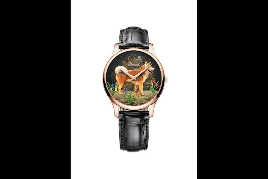 L.U.C XP Urushi en or rose, cadran en laque Urushi, 39, 5 mm de diamètre, mouvement automatique, bracelet en alligator. Série limitée à 88 exemplaires. Chopard. 22 600 €.