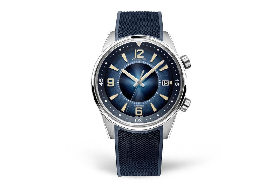 Polaris Date en acier, 42 mm de diamètre, mouvement automatique, bracelet en caoutchouc. Editionlimitée à 800 exemplaires. Jaeger-LeCoultre. 8 300 euros.