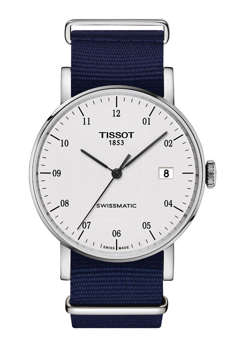Everytime Swissmatic en acier, 40 mm, mouvement automatique. Tissot. 390 €.