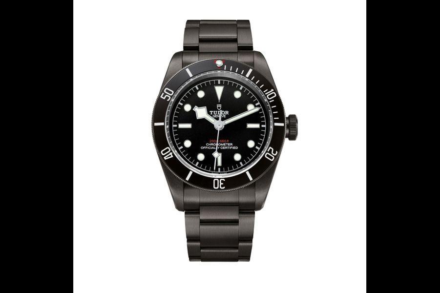 Heritage Black Bay Dark en acier PVD, 41 mm de diamètre, mouvement automatique, bracelet en acier PVD, Tudor. 4340 euros.