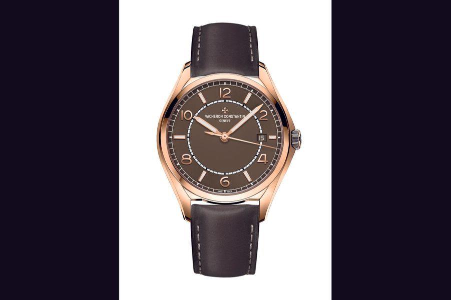 Fiftysix en or rose, 40 mm, mouvement automatique, bracelet en cuir, Vacheron Constantin. 20200 euros.