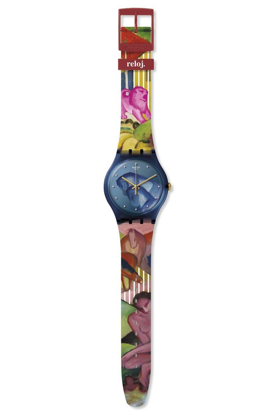 Sleepy Garden en plastique, 39 mm de diamètre, mouvement à quartz, bracelet en silicone. Swatch. Série limitée à 2 500 exemplaires.