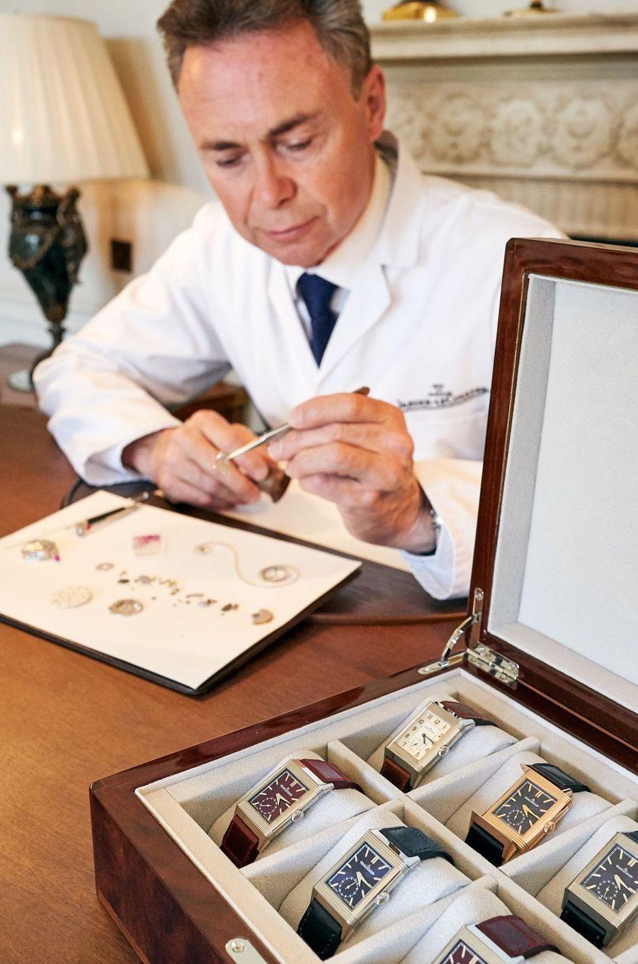 Chaque montre présentée a pu être commentée par un horloger venu spécialement de la manufacture Jaeger-LeCoultre.