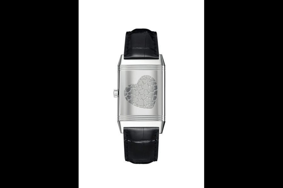Reverso Classic Medium Thin en acier, 40 x 24, 5 mm, mouvement à quartz, bracelet en alligator, Jaeger-LeCoultre, 4 350 €.
