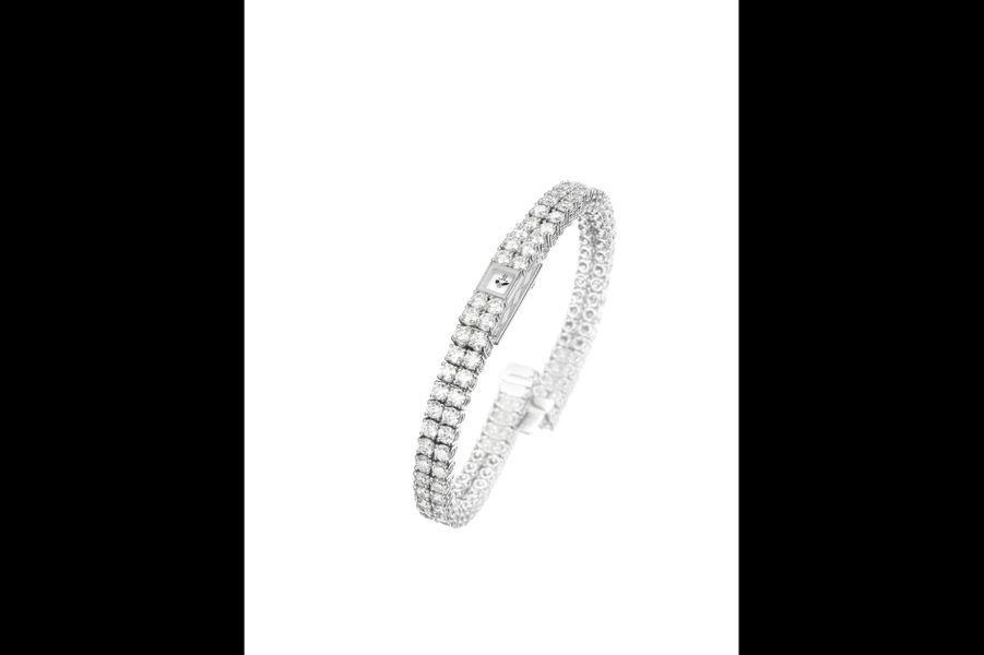 «101 Reine» en or gris et diamants, mouvement à remontage manuel, Jaeger-LeCoultre. 136 000 €.