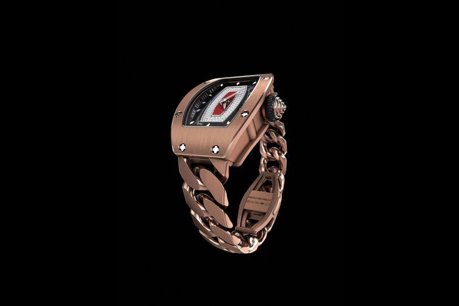 «RM 07-01 Ladies» en or rouge, mouvement automatique, Richard Mille. 172 000 €.