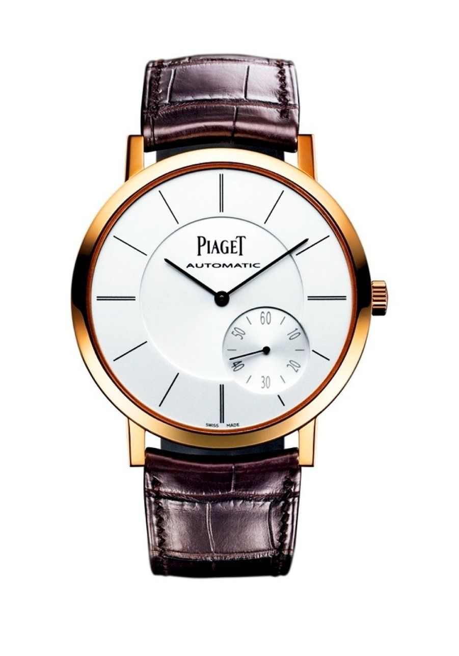 Altiplano en or rose, mouvement automatique, 43 mm de diamètre. 22 400 €. Piaget.