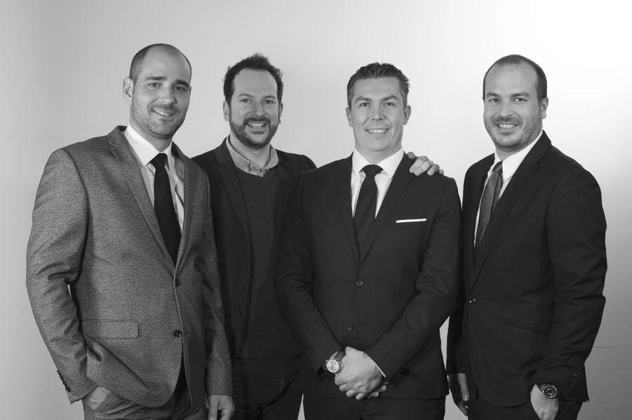 La nouvelle directionMichel Herbelin avec de gauche à droite, Benjamin Theurillat, Mathieu Herbelin, Cédric Gomez-Montiel et Maxime Herbelin.