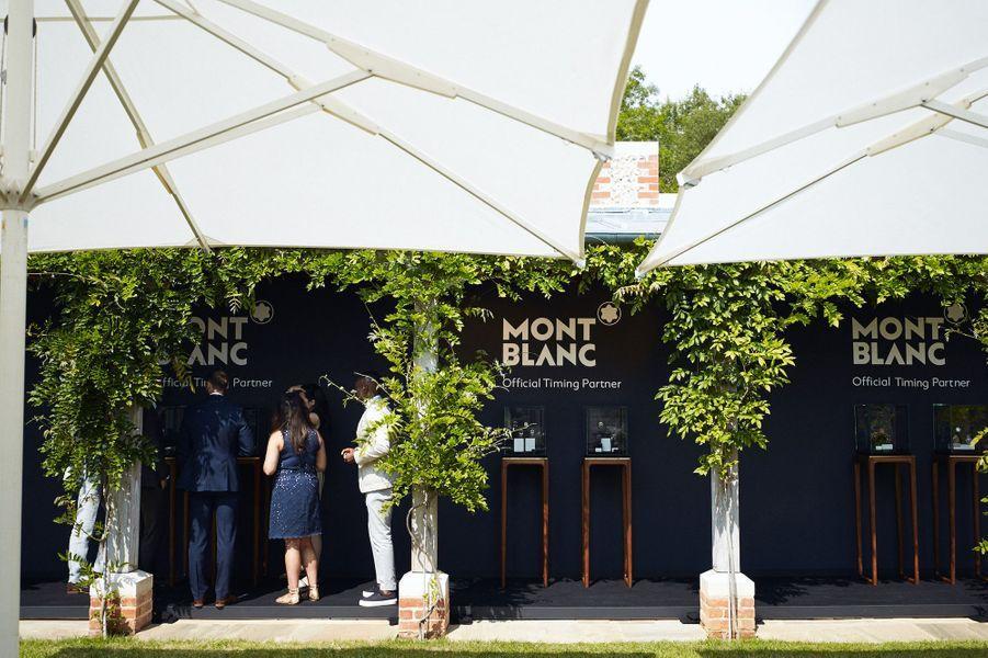 Tout au long du festival de vitesse de Goodwood, une boutique éphémère Montblanc présente l'ensemble des nouveautés de la maison.