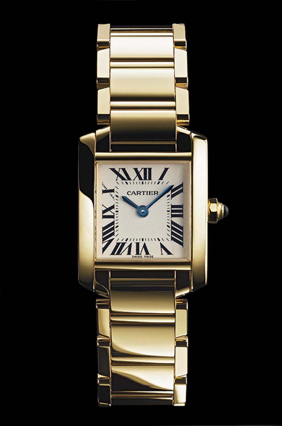 1996 La française revient au carré, plus compact, son boîtier enserre un bracelet en métal.