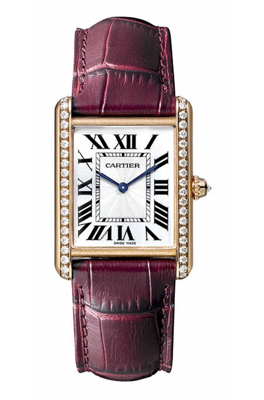Tank Louis Cartier en or rose et diamants, 20 000€