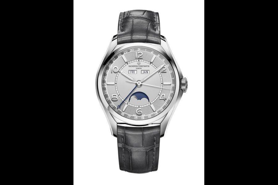Fiftysix date-jour.Boîte en acier, 40 mm de diamètre, mouvement automatique avec jour, date, mois et phases de lune, bracelet en alligator, 22 600 €.