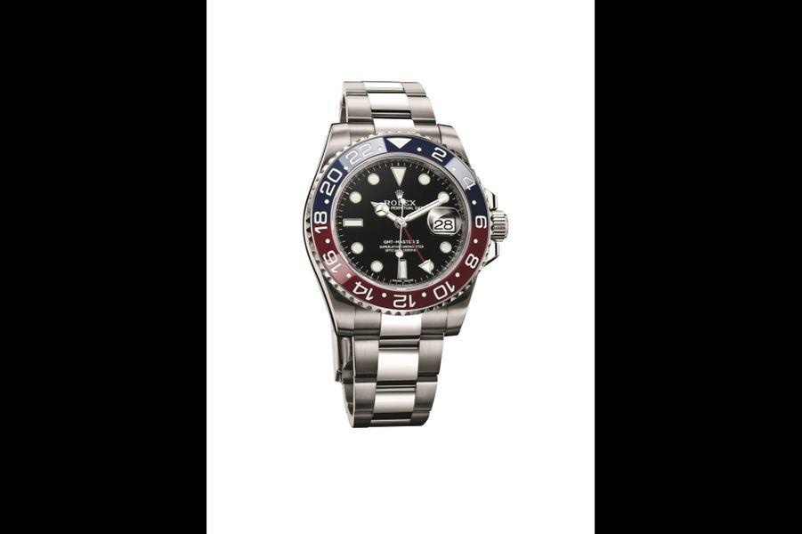 Oyster Perpetual GMT-Master II en or gris, 40 mm de diamètre, mouvement automatique, bracelet en or gris. Rolex. 35 000 €.