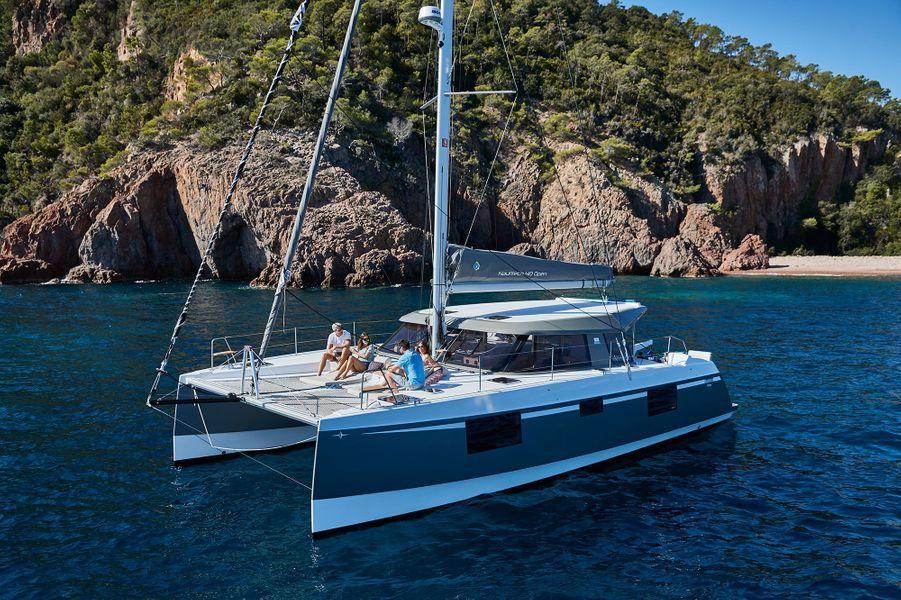 Le catamaran Nautitech 40 Open qui fait le tour de l'île Maurice en 7 jours.