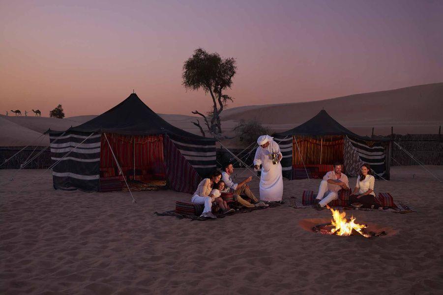 Camping dans le sable