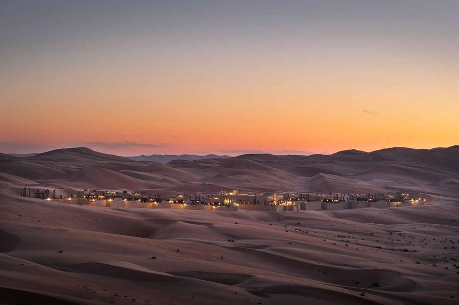 Coucher de soleil àQasr Al Sarab