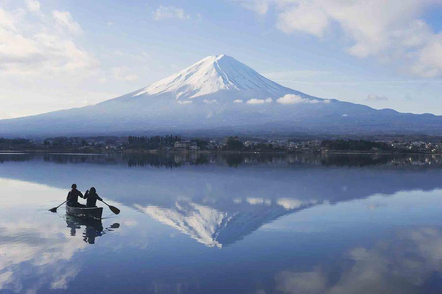 Lac Kawaguchi, Japon