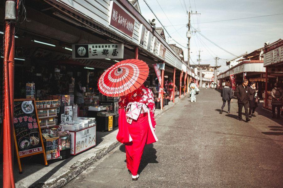 marché de rue à Kashima, préfecture de saga