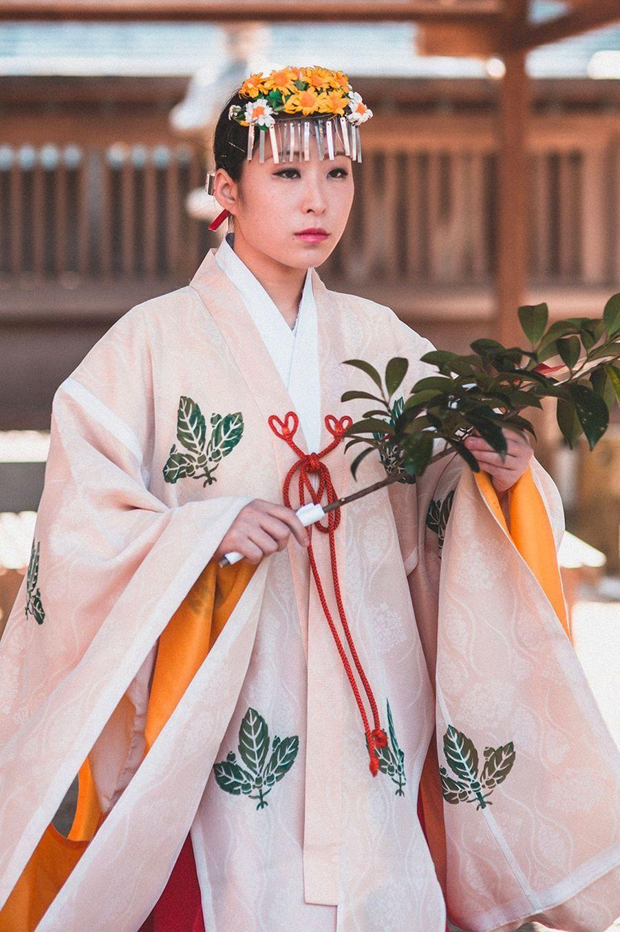 cérémonie, Hetsu Miya Shrine, Fukuoka