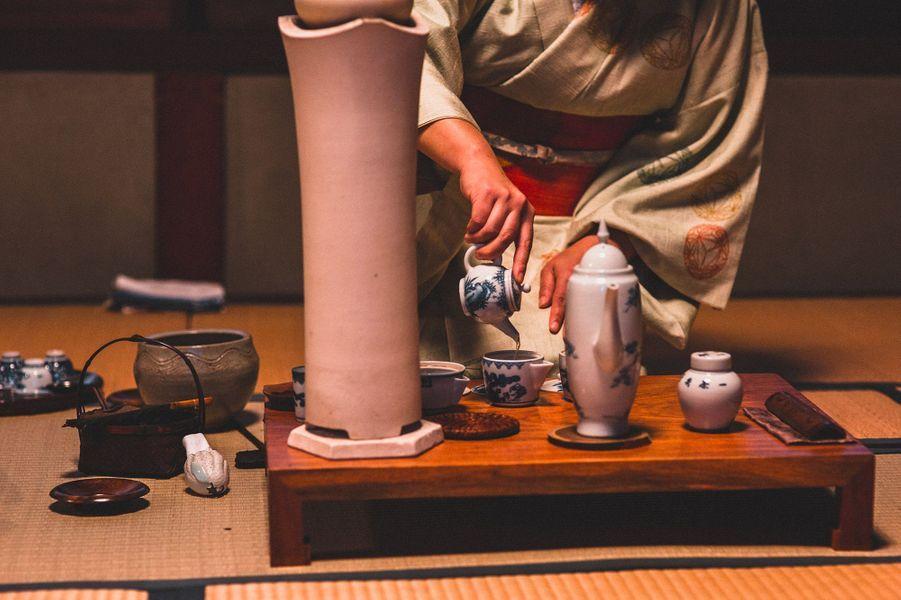 "cérémonie du thé, maison ""Konomi Honke"", Yame city"