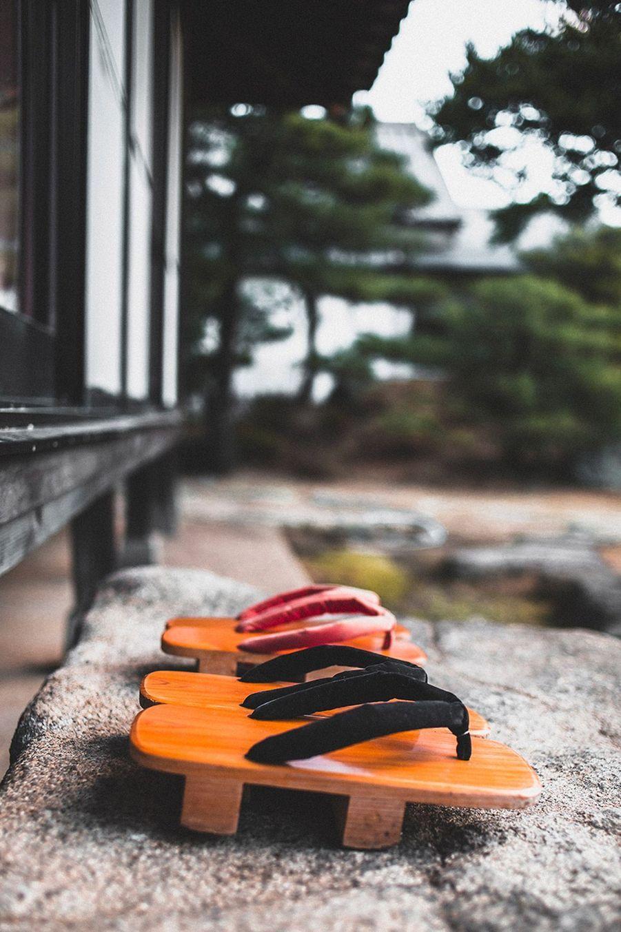Geta d'extérieur (chaussures traditionnelles du Japon)