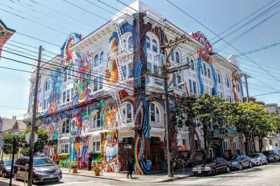 Mission Street, le temple du street art. Ici, les murs nus sont rares !