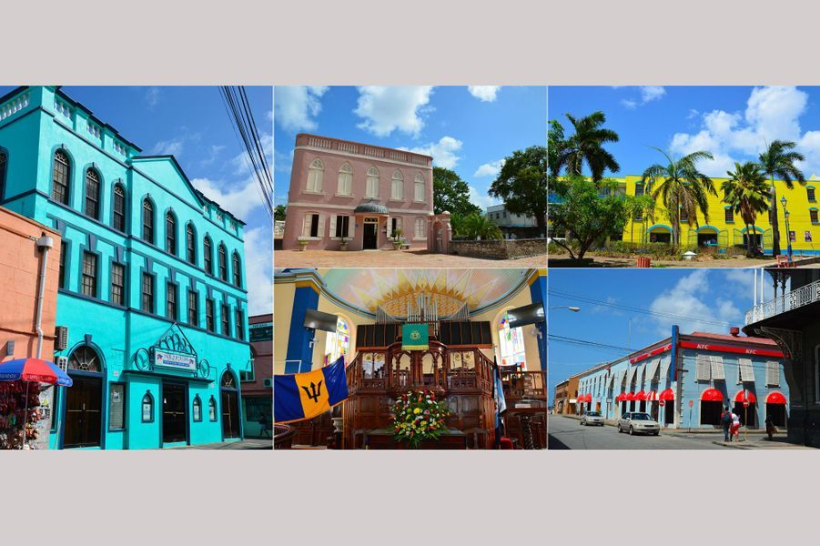 A Bridgetown, la capitale et plus grande ville de la Barbade.