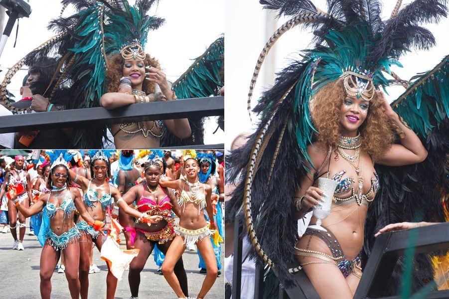Rihanna durant le festival Crop Over, en août 2015.