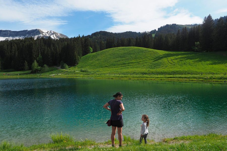 Megève, dans le massif du Mont-Blanc.