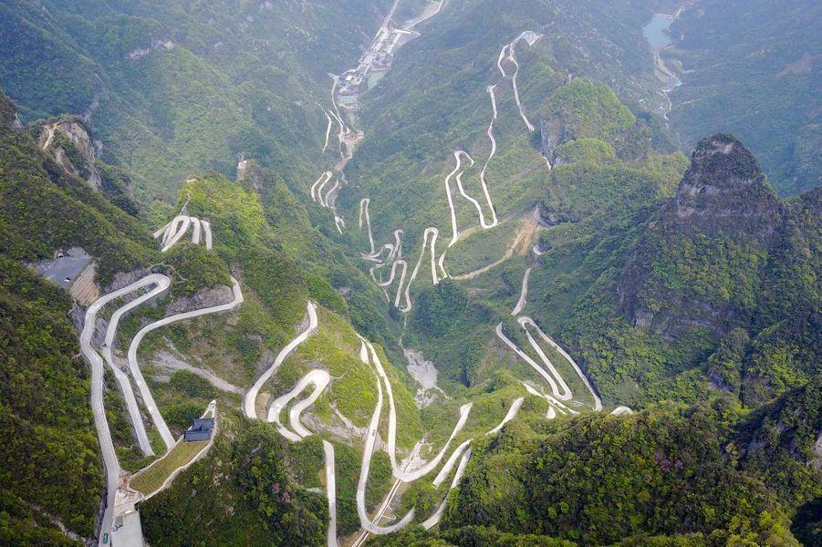La province montagneuse du Hunan (Chine).
