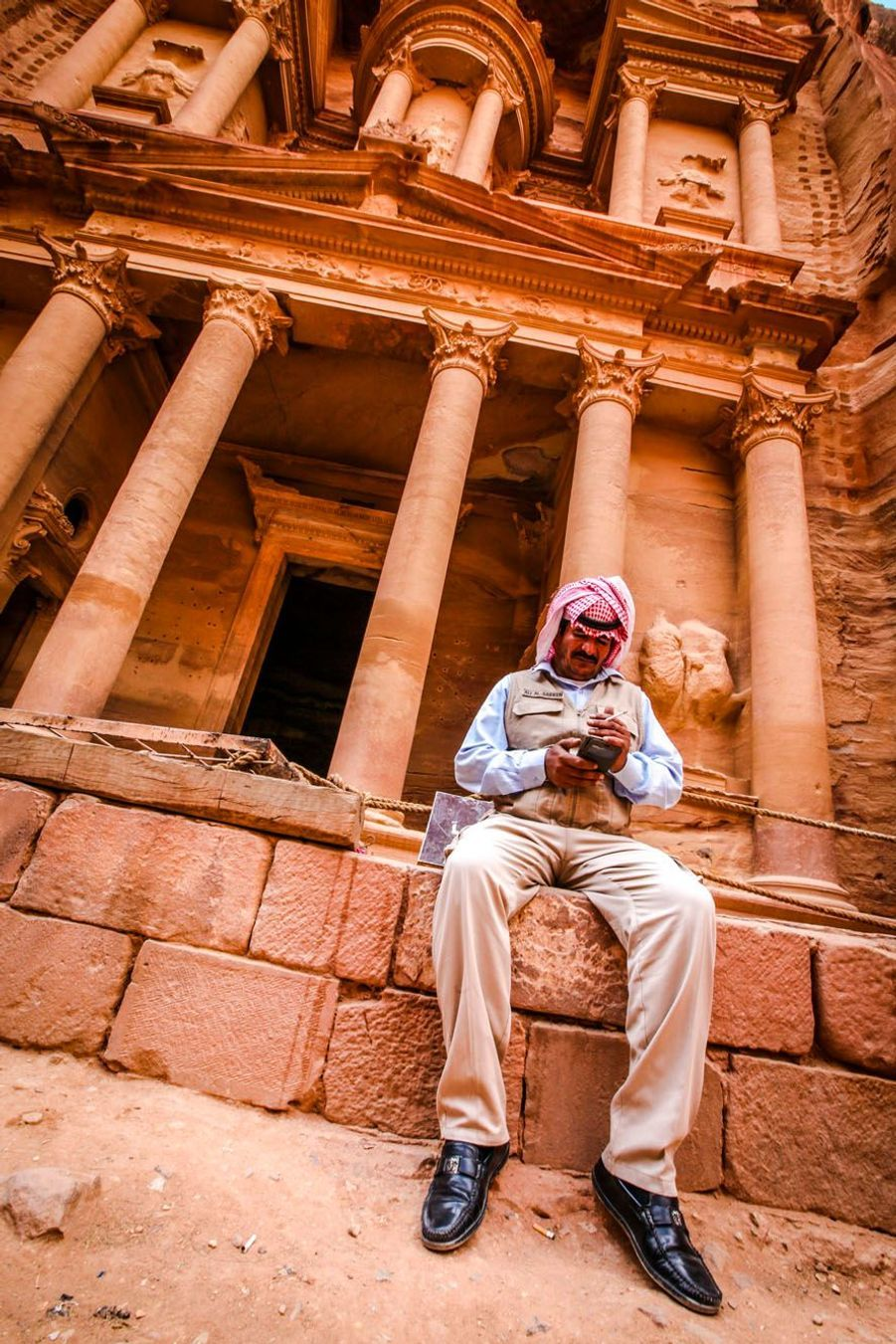 Photo prise à Petra, en Jordanie.