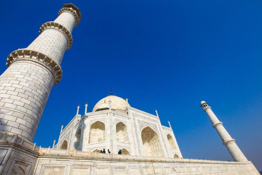 Photo prise au Taj Mahal, en Inde