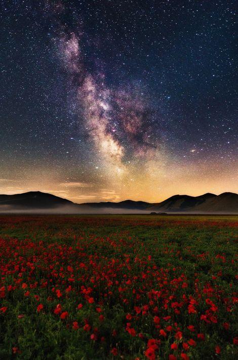 Castelluccio di Norcia, la très belle vie sous les étoiles