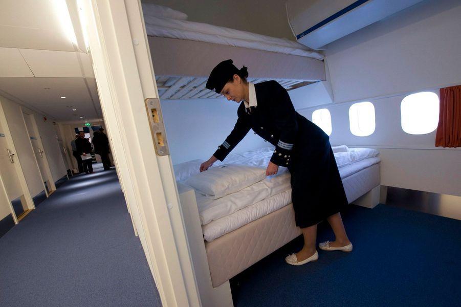 L'hôtel Jumbo, à Arlanda en Suède est conçu dans un ancien Boeing 747 jumbo jet.