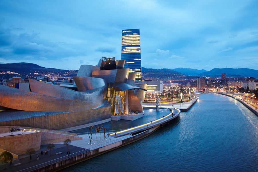 Le Musée Guggenheim à Bilbao.