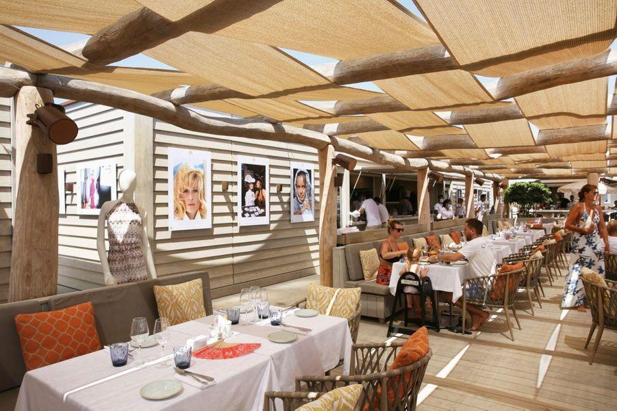 Le restaurant Beach Byblos, à Ramatuelle, où l'on sert une cuisine méditerranéenne allégée