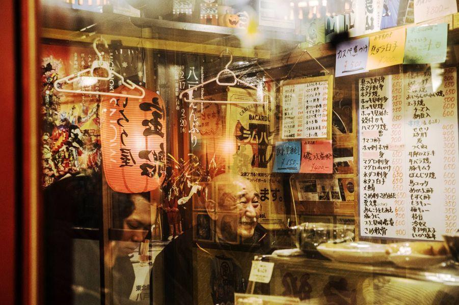 Un restaurant dans une ruelle (yokocho) d'Hachinohe