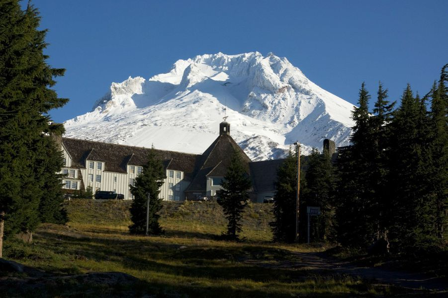 Timberline Lodge – Timberline, Oregon, États-Unis, pour «Shining» (1980).
