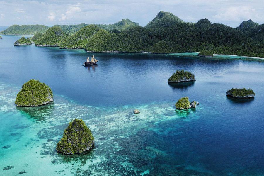 C'est une destination que les fous d'exploration sous-marine consentaient, après quelques bières, à révéler à l'oreille de l'ignorant. Il était question de milliers d'espèces, parfois inconnues, de rivages de Papouasie infestés de tribus hostiles à l'homme blanc, de pirates sanguinaires… Aujourd'hui, le mystère est levé mais l'endroit demeure incontournable pour les plongeurs. Nourris par des courants particulièrement riches en nutriments, les eaux de Raja Ampat abritent 1 300 espèces de poissons (et d'autres pas encore découvertes !) et du corail à profusion. Raies mantas, requins-baleines, napoléons, barracudas, petits ou gros, pâles ou multicolores, chaque fois que l'on met la tête sous l'eau, c'est un arc-en-ciel aquatique. Que l'on soit plongeur émérite ou simple « snorkler ».