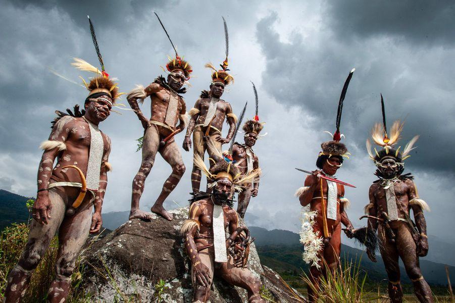 Les Dani, lors de l'édition 2018 du festival de la vallée de Baliem, en Indonésie.