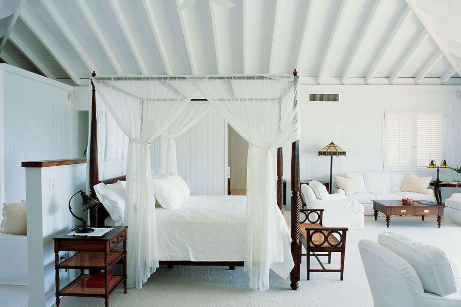 Une des chambres del'hôtel Como Parrot Cay.