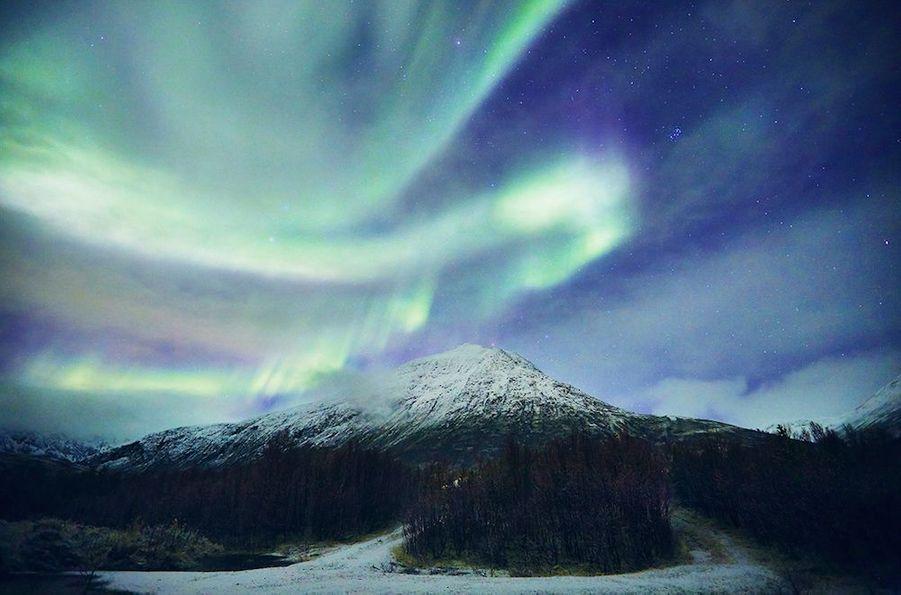 La magie des aurores boréales...