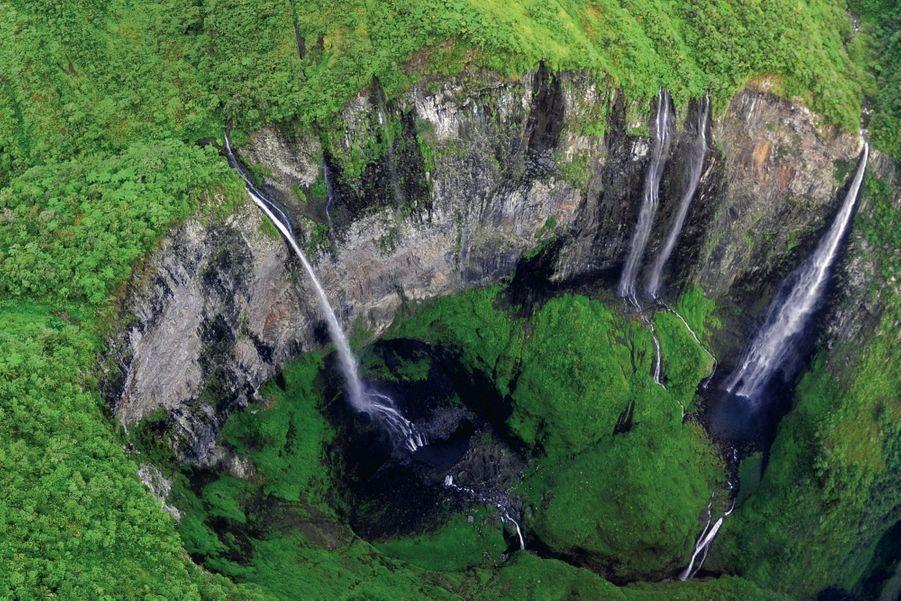 Le trou de Fer, une dépression géologique du piton des Neiges, dans le nord-est de l'île.